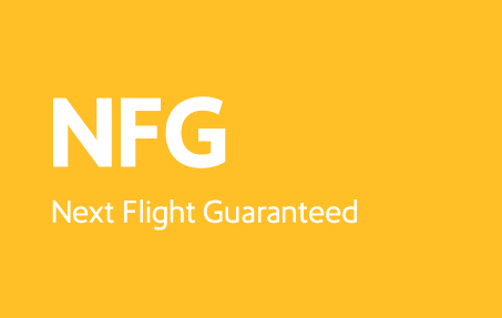 Next Flight Guaranteed logo block