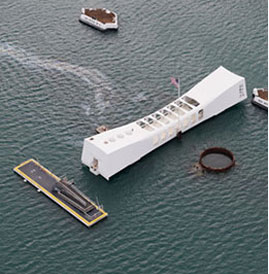The Arizona Memorial.