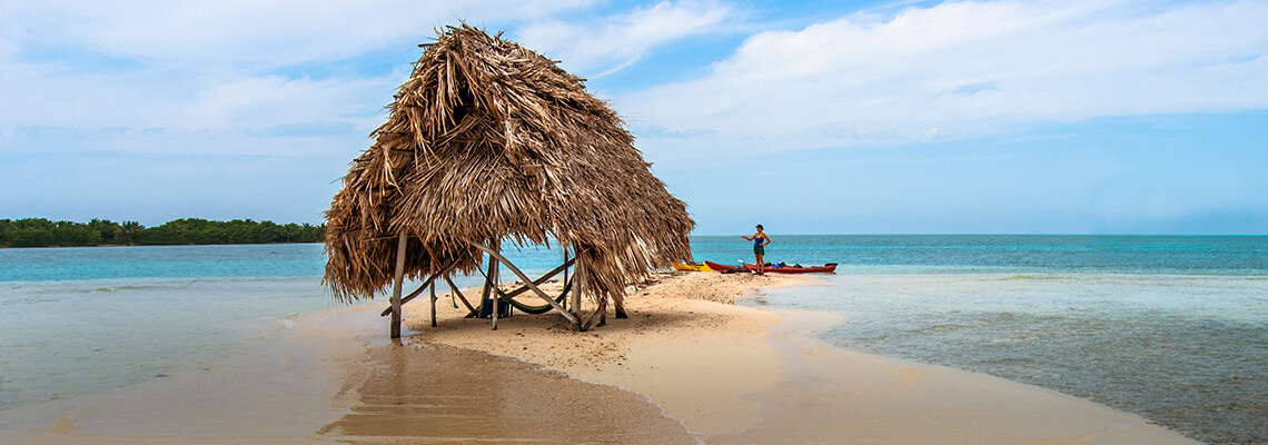 Cabaña de playa en Belice