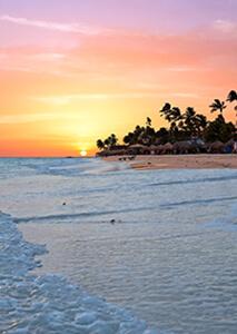 Playa al atardecer en Aruba