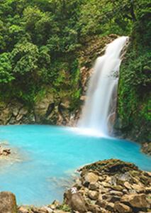 Catarata de Río Celeste cerca de Liberia, Costa Rica