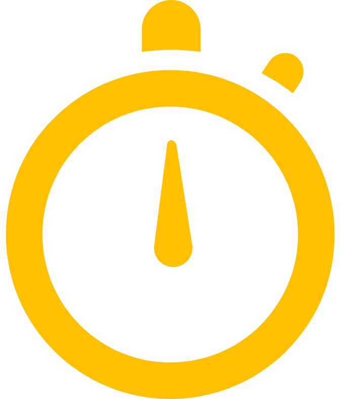 Ícono de un reloj amarillo