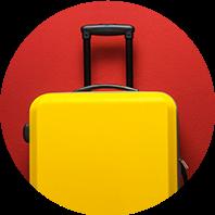 Una maleta amarilla