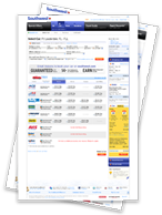 Screenshots of booking a car on southwest.com