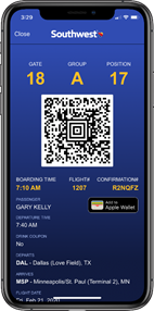 Mobile Boarding Pass Southwest Airlines
