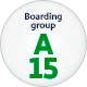 A upgraded boarding sign