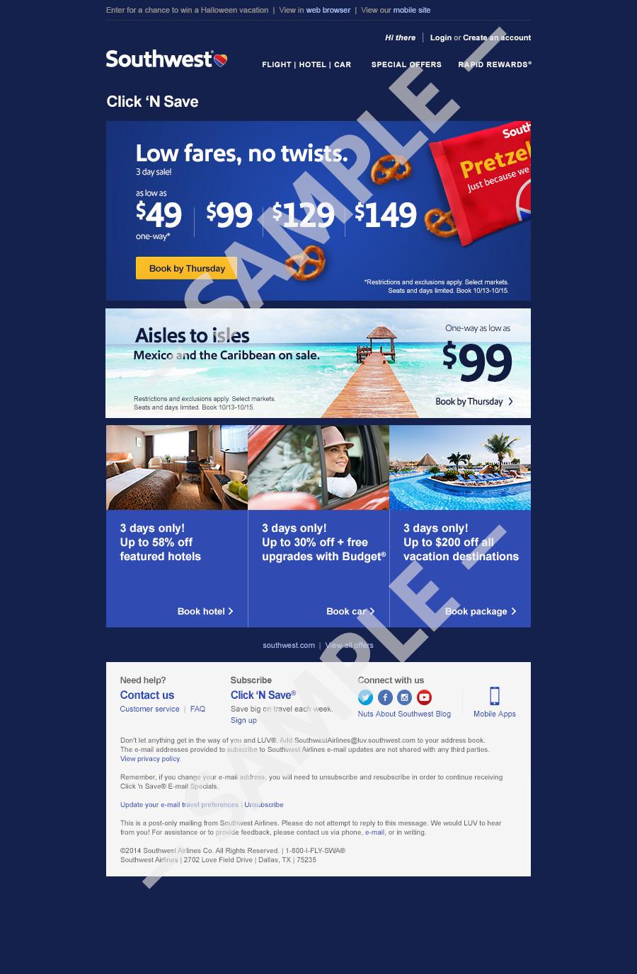 Muestra de Click &#39;N Save<sup>®</sup>