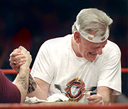 In March 1992, Herb challenged Kurt Herwald of Stevens Aviation to an arm wrestling match to settle a dispute over the slogan Just Plane Smart. Rather than engage in a costly court battle with no clear winner, the two leaders settled their differences while also raising over $10,000 for charitable causes.