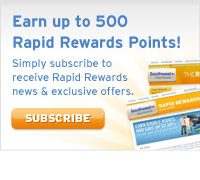 Subscribe to Rapid Rewards e-mail communications