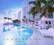 Un complejo hotelero de lujo con vista a la piscina.