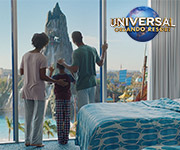 Una familia en un hotel en Universal Orlando Resort™