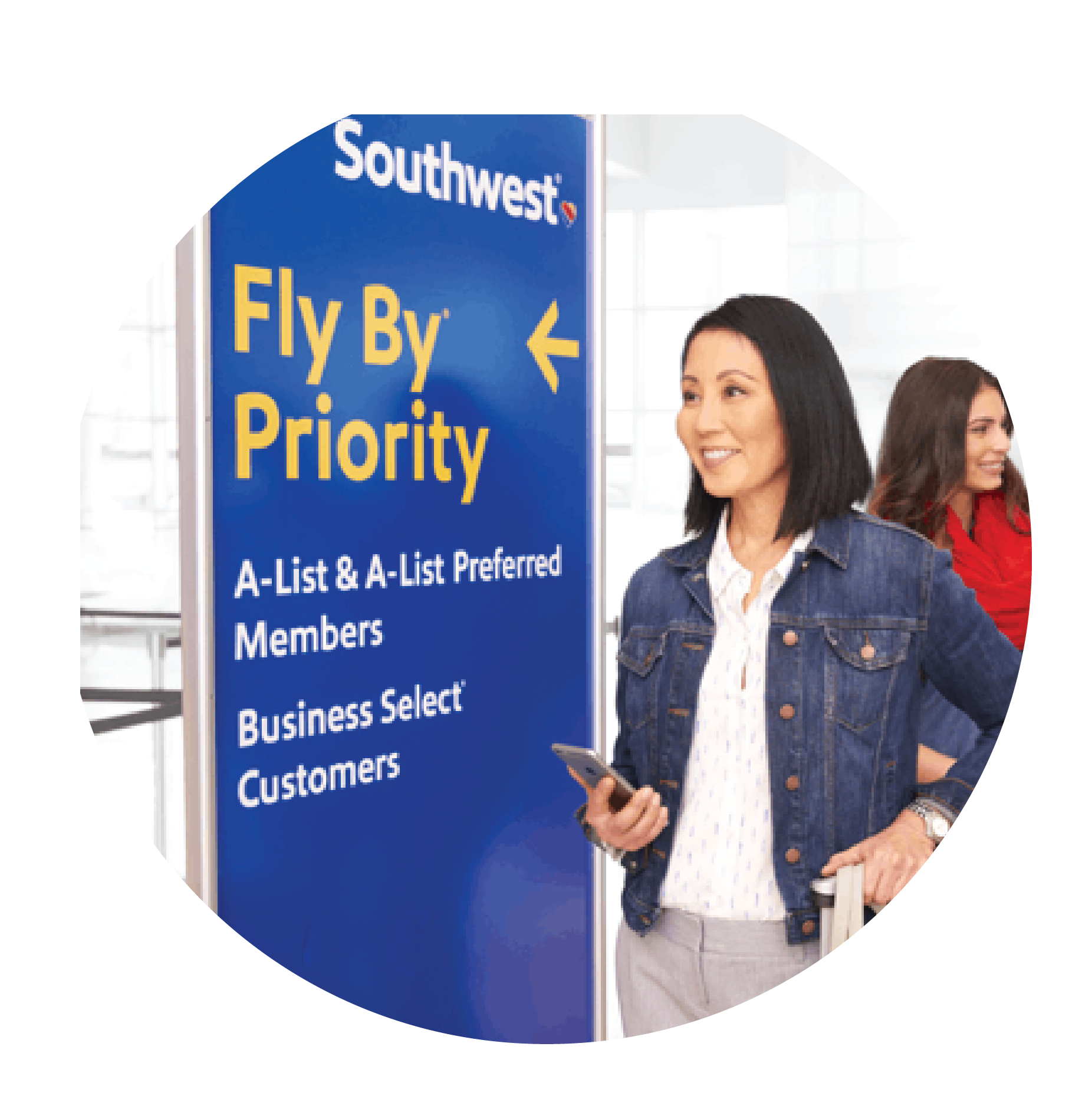 Priority Check-in at Airport with Southwest