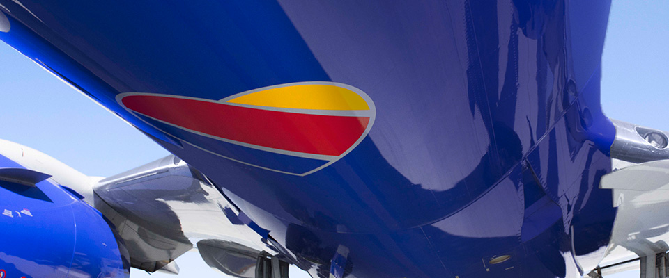 Southwest Airplane and text-Without a heart, it's just a machine. That's why it's in everything we do.