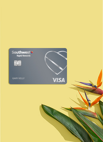 Southwest Rapid Rewards Credit Card and Bird of Paradise flowers