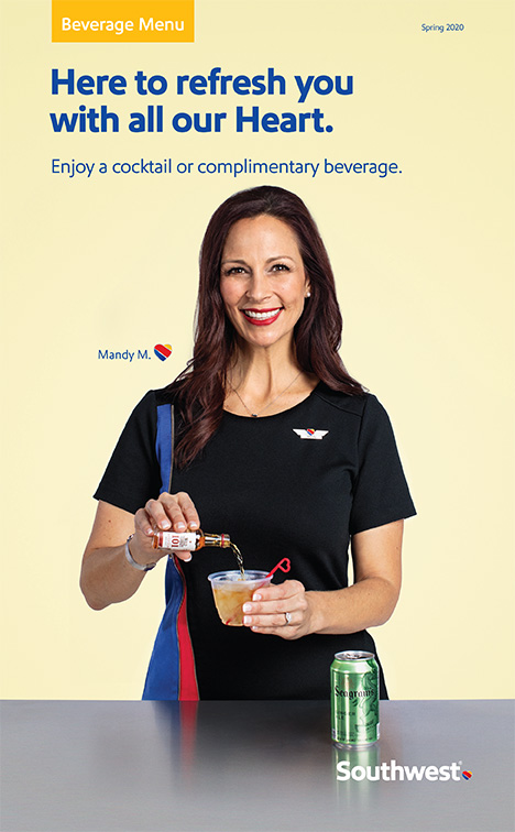 Spring 2020 Inflight beverage menu